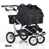 Twinner Twist Carry Cots Black