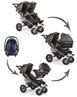 TFK Twinner Twist Duo Pram Car Seat Carry Cot