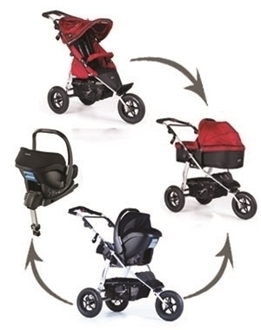 Joggster 12 inch, Carry Cot, Recaro Privia and Isofix Base